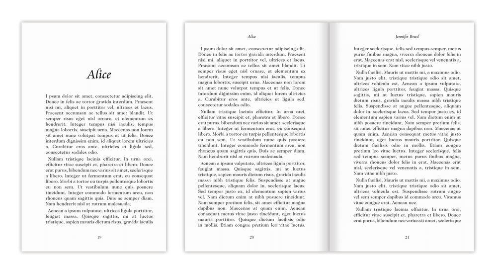 Book layout templates perfect formats and fonts for your work book layouts maxwellsz