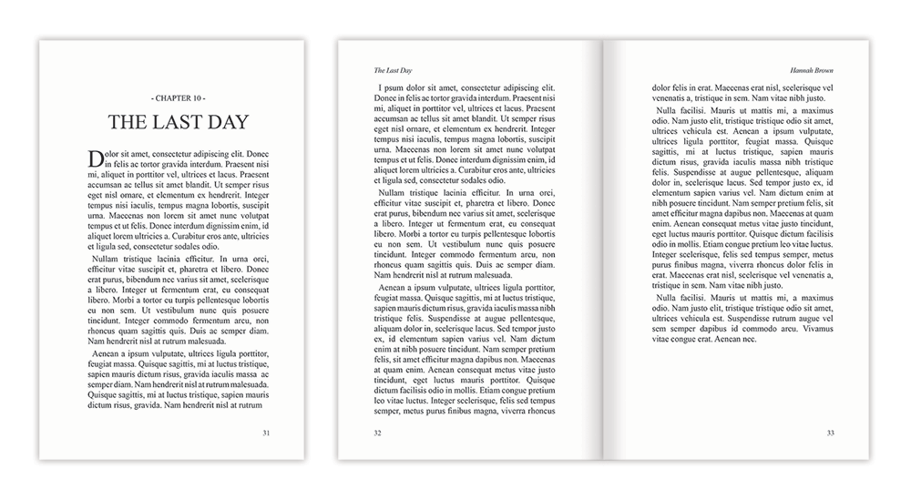 Book layout templates perfect formats and fonts for your work template last day maxwellsz
